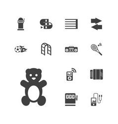 13 play icons vector
