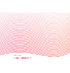 abstract background with narrow wavy lines vector image