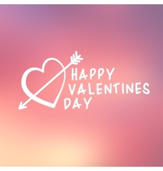 Abstract background with text for st Valentines vector image
