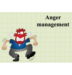 Anger management vector