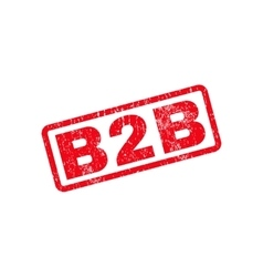 B2B Text Rubber Stamp vector