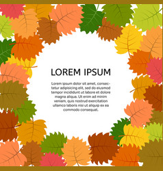 background with autumn leaves vector image