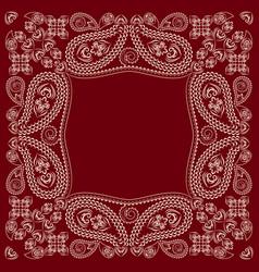 Bandana paisley design- classic print square vector