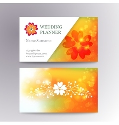 Blurred business card template with logo vector