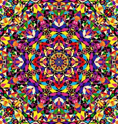 Bright geometric seamless kaleidoscope pattern vector