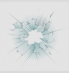 broken glass cracked window texture realistic vector image