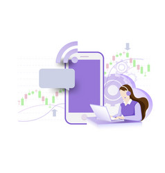 business online technical support and service vector image