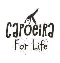 Capoeira brazilian dance african origin poster vector