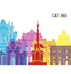 Catania skyline pop vector image