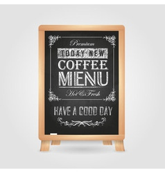 Chalk drawings Retro typography Coffee vector
