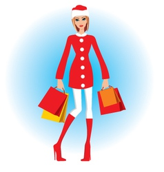 Christmas shopping vector image