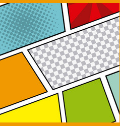 Comic pop art background vector