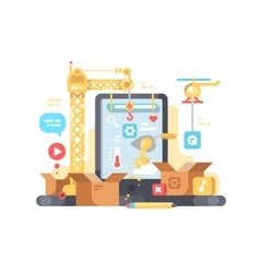 Creation and development of app vector