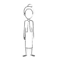 Cute grandmother avatar character vector