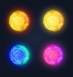 different abstract luminous vector image