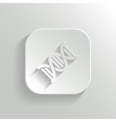 DNA icon - white app button vector image