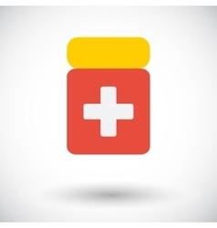 Drug flat icon vector