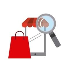 electronic commerce flat set icons vector image