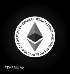 etherium emblem vector image