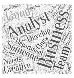 Finding a business analyst Word Cloud Concept vector