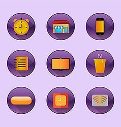 Flat icons home freelance vector