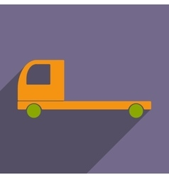 Flat with shadow icon and mobile application car vector
