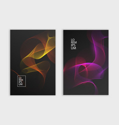 flyer or cover design dark background with vector image