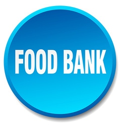 Food bank blue round flat isolated push button vector
