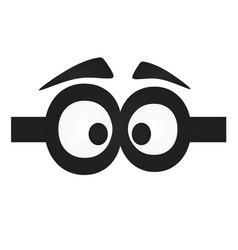 Funny eye mask vector