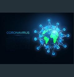 futuristic coronavirus covid-19 spread over vector image