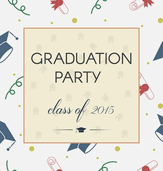 Graduation Celebrating Invitation or Postcard vector