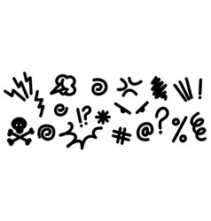 hand drawn doodle swearing isolated on white vector image