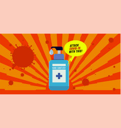 Hand sanitizer advertisement banner vector
