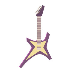 Hard rock guitar icon cartoon style vector