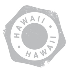 Hawaii stamp rubber grunge vector