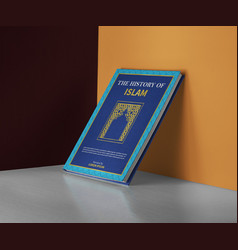 history islam book cover vector image