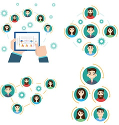 Interaction structure Avatar business team vector image