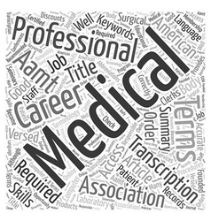 Is A Career In Medical Transcription For You Word vector