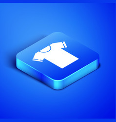 Isometric t-shirt icon isolated on blue background vector