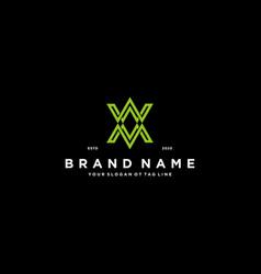Letter xx logo design vector