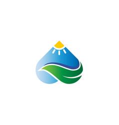 love and leaf landscape nature logo logo vector image