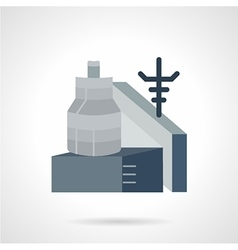 Metalworking factory flat icon vector