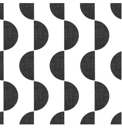 monochrome screen print style seamless geometric vector image