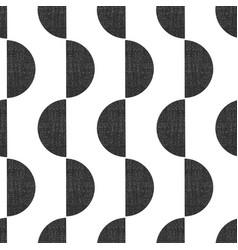 Monochrome screen print style seamless geometric vector