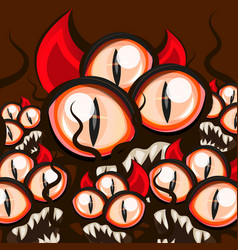 monster halloween eyes vector image