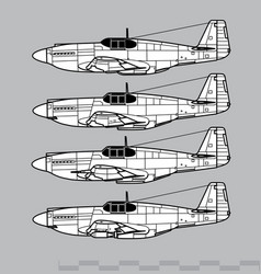 North american p-51 mustang vector
