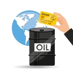 oil and petroleum industry economic world money vector image