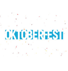 Oktoberfest festival label blue text with vector