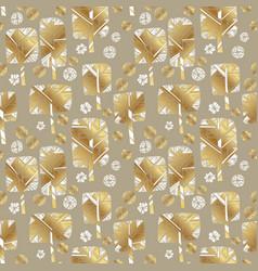 Oncept golden winter park seamless pattern vector