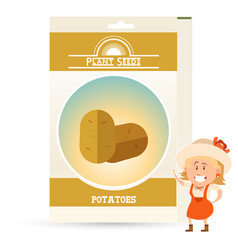 pack potatoes seeds icon vector image